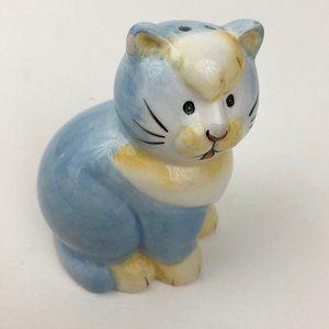 Vintage Blue Cat Salt Shaker